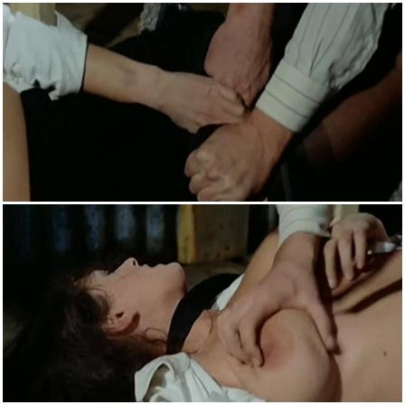 Rape Scene From The Red Nights of the Gestapo (1977).