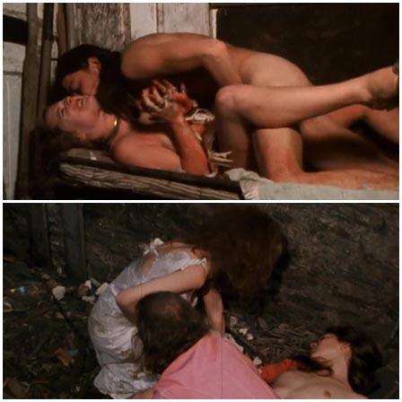 Cookie Mueller, Susan Walsh, Gore scene in Pink Flamingos (1972)