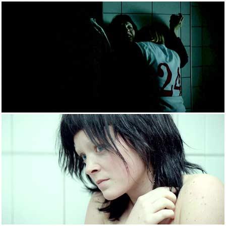 Lesbian sexual assault of a cheerleader in shower