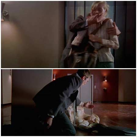 The kidnapped woman is held by a psychopath in his house as a doll
