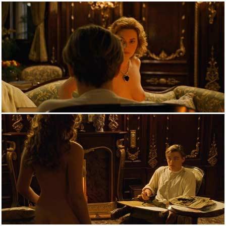 Naked Kate Winslet @ Titanic (1997) Nude Scenes