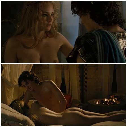 Naked Diane Kruger, Rose Byrne @ Troy (2004) Nude Scenes