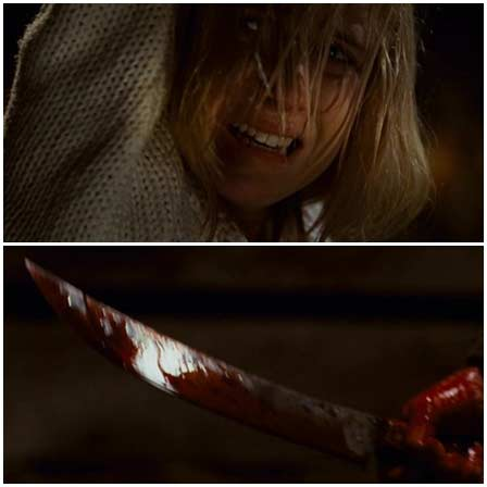 Death fetish scenes from mainstream movies #173 (stabbed to death, hanging by hands)