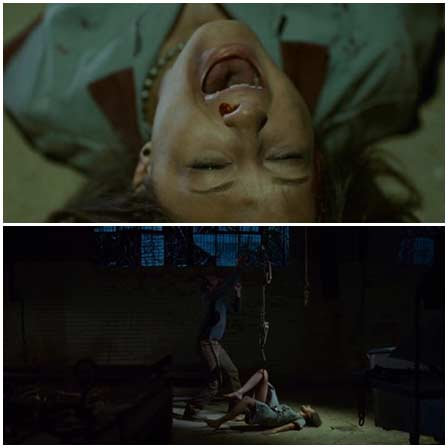 Death fetish scenes from mainstream movies #174 (hanging by legs, burned alive, hanging upside down)