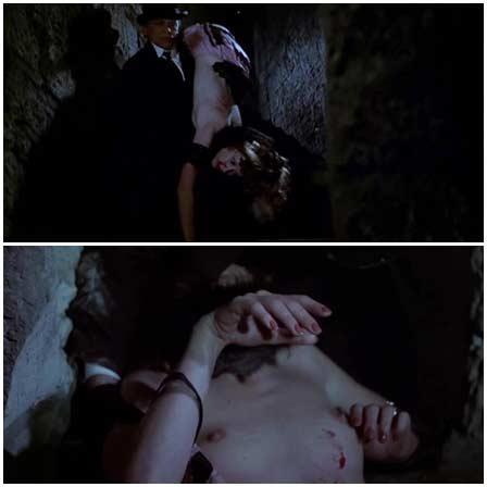 Death fetish scene #1780 (naked dead woman, strangled)