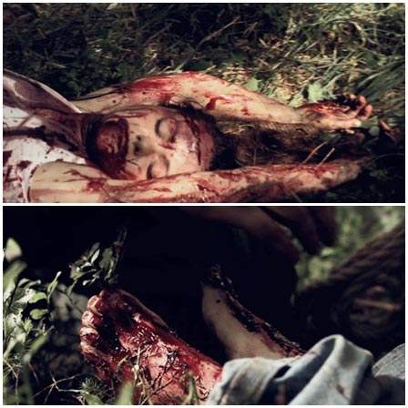 Death fetish scene #204 (dismembering a dead body, hanging upside down)