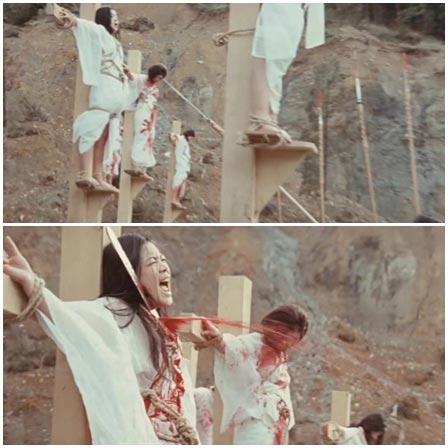 Death fetish scene #219 (execution, head cut off, cut throat)