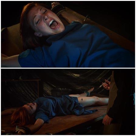 Death fetish scene #228 (bound and gagged, legs cut off)