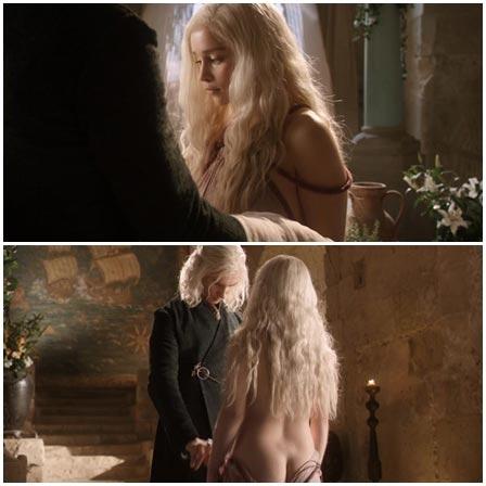 Emilia Clarke abuse scene, Game of Thrones (TV Series, 2011–2019)