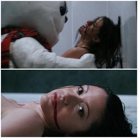 Woman is brutally raped by a snowman in the bathtub