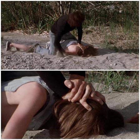 Death fetish scene #305 (suffocation, naked dead woman)
