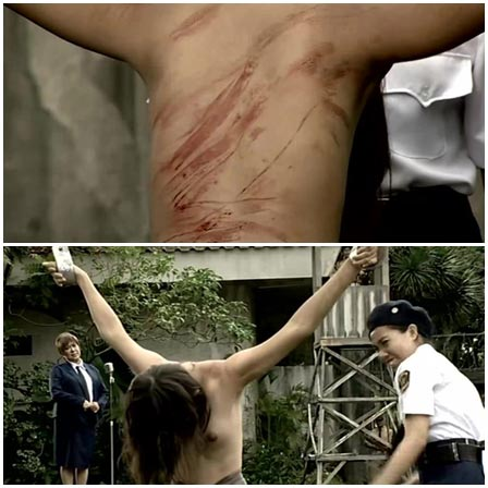 BDSM fetish scene #62 (spanking, hanging by hands)