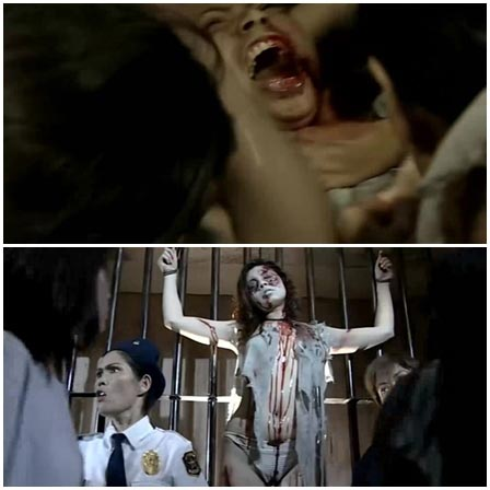 BDSM fetish scene #65 (cage, water torture, dead woman)