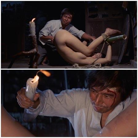 BDSM fetish scene #67 (wax torture, bound and gagged)