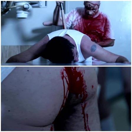 Rape a man with a giant dildo