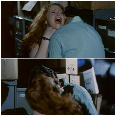Redhead is raped by prison guard standing