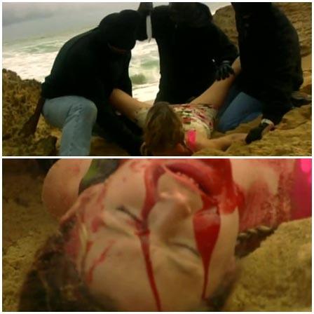 Bloody gang rape on the seaside
