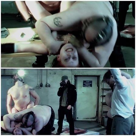 Filmed brutal bloody gang rape in front of bound man