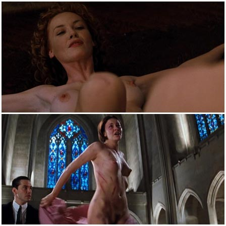 Naked Charlize Theron, Connie Nielsen, Tamara Tunie @ The Devil's Advocate (1997) Nude Scenes