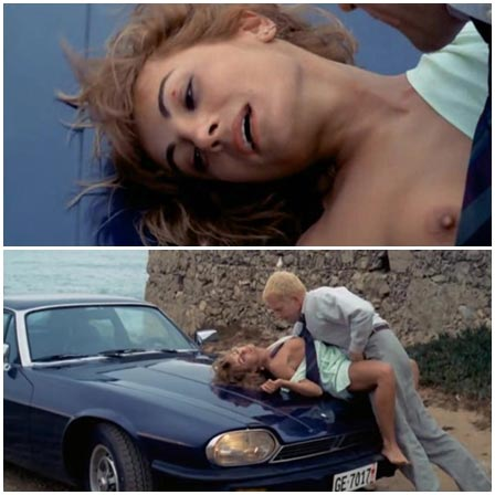 Blonde raped on the hood of a sports car