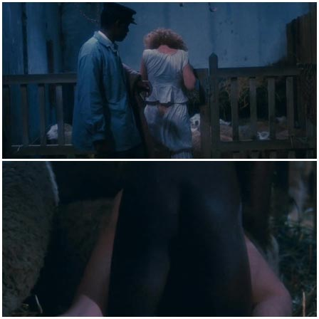 Night walk to the barn turned into rape
