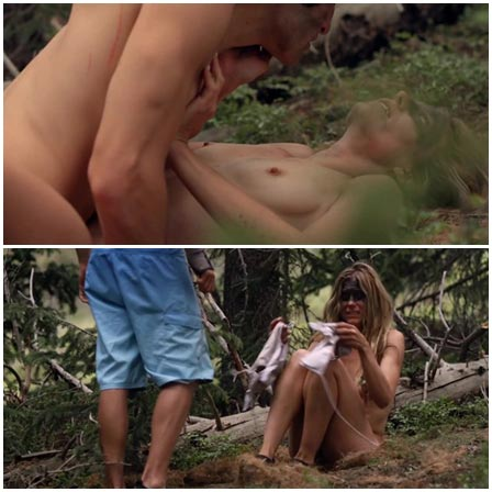 Sex between stepmother and stepson in the forest