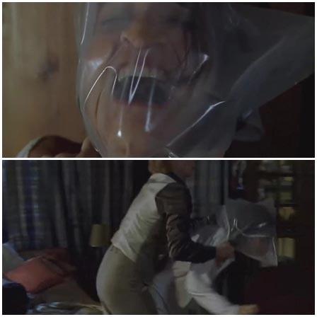 Death fetish scene #385 (suffocation, bag suffocation)